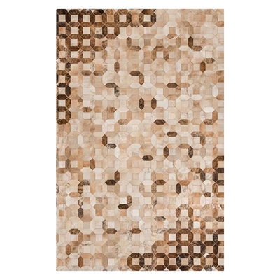Trellis Hide Rug, Tan