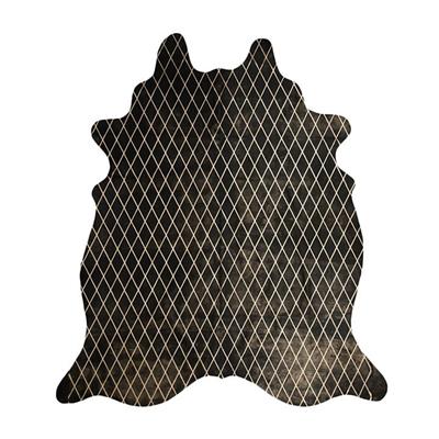Arlequin Cow Hide Rug, Black/Gold