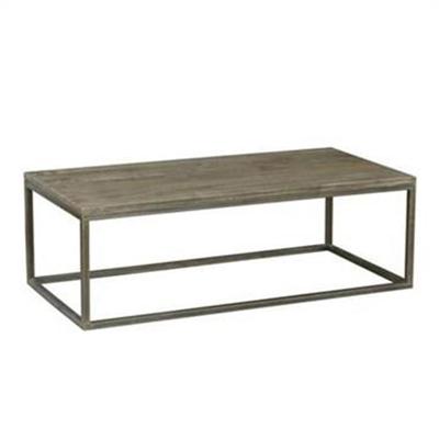 Byrne Mango Wood & Metal Coffee Table, 120cm
