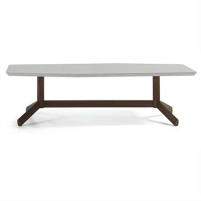 Amias 130cm Tripod Coffee Table - Grey/Walnut