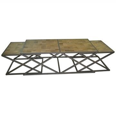 Enchant 3 Piece Solid Timber and Metal 120cm Coffee Table Set by Dodicci, a Coffee Table for sale on Style Sourcebook
