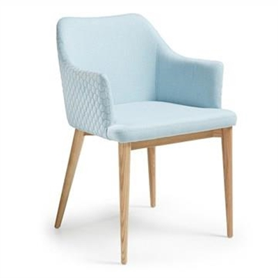 Danya Fabric Dining Armchair, Light Blue by El Diseno, a Dining Chairs for sale on Style Sourcebook