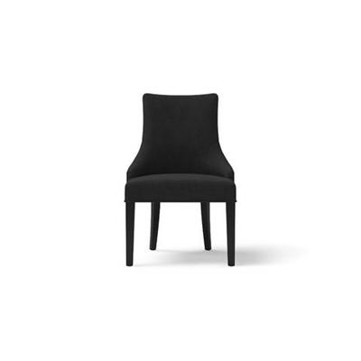 Zoe Scoop Back Dining Chair Black Solid Beech Night Black