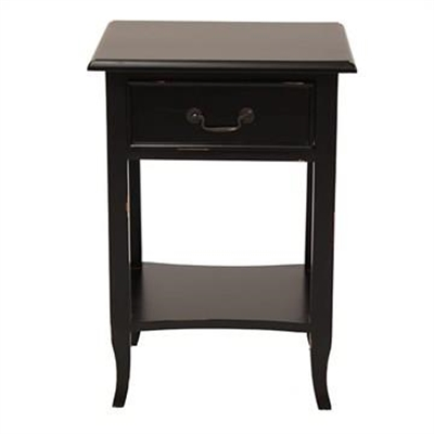 Ygrande Hand Crafted Mahogany Bedside Table, Black by Millesime, a Bedside Tables for sale on Style Sourcebook