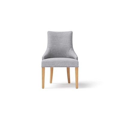 Zoe Scoop Back Dining Chair Natural Solid Beech Cloud Grey