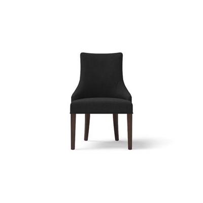 Zoe Scoop Back Dining Chair Dark Brown Solid Beech Night Black