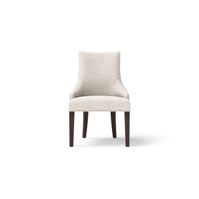 Zoe Scoop Back Dining Chair Black Solid Beech Classic Cream