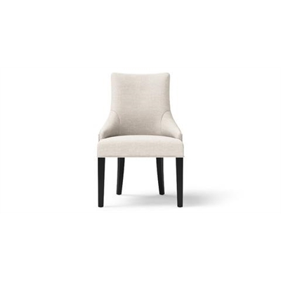 Zoe Scoop Back Dining Chair Dark Brown Solid Beech Classic Cream