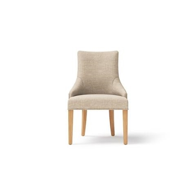 Zoe Scoop Back Dining Chair Natural Solid Beech French Beige