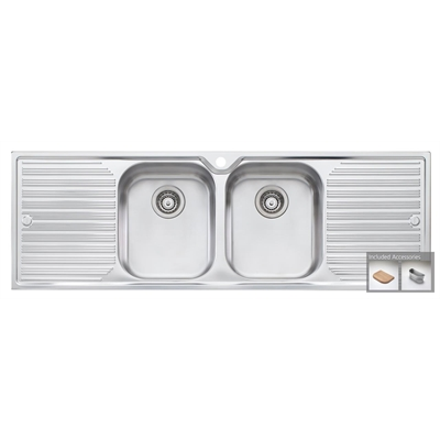 Oliveri Diaz double bowl by Oliveri, a Kitchen Sinks for sale on Style Sourcebook