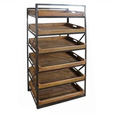 Arpino Metal Frame Display Rack with Detachable Timber Tray Shelves by Chateau Legende, a Freestanding Cabinets for sale on Style Sourcebook
