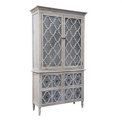 Trellis Reclaimed Pine Timber and Zinc 2 Door 4 Drawer Armorie by Diaz Design, a Freestanding Cabinets for sale on Style Sourcebook