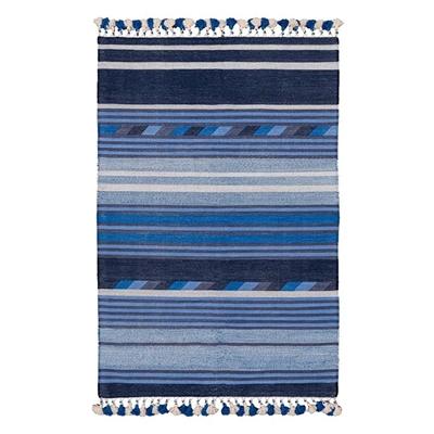Hand Woven Flip Rug, Blue