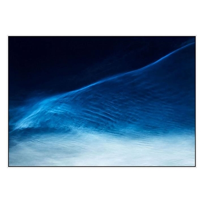 Cirrus Clouds At Midnight Canvas Print with Floating Frame