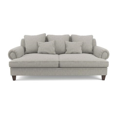 Mila 3 Seater Sofa Stone Grey by Brosa, a Sofas for sale on Style Sourcebook