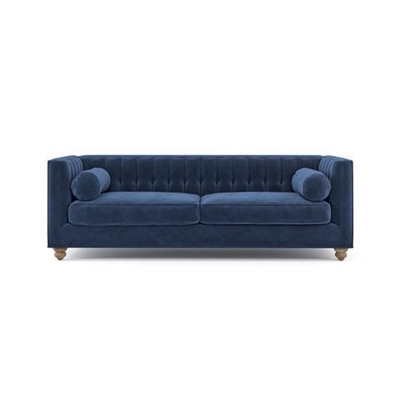 Camilla 3 Seater Sofa Ocean Blue by Brosa, a Sofas for sale on Style Sourcebook