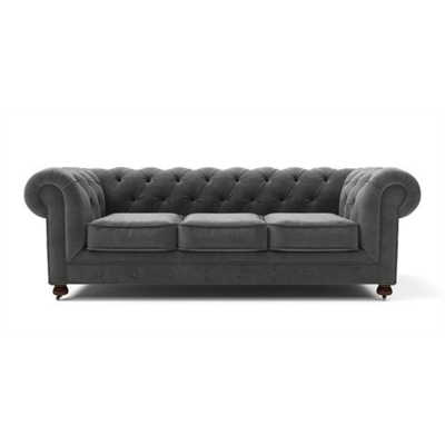 Notting Hill Velvet Chesterfield 3 Seater Sofa Cosmic Anthracite by Brosa, a Sofas for sale on Style Sourcebook