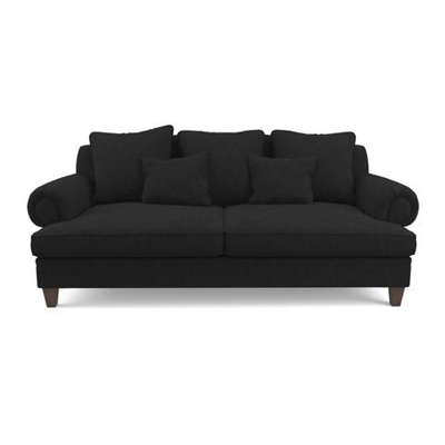 Mila 3 Seater Sofa Night Black