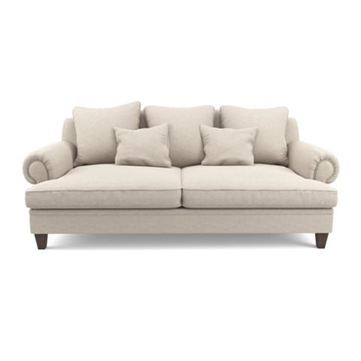 Mila 3 Seater Sofa Classic Cream by Brosa, a Sofas for sale on Style Sourcebook