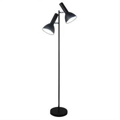Vespa Metal Twin Floor Lamp, Black by Oriel Lighting, a Floor Lamps for sale on Style Sourcebook