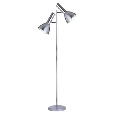 Vespa Metal Twin Floor Lamp, Chrome