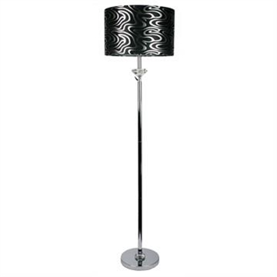 Roxy Crystal-Chrome Lamp Base Only - Chrome (Oriel Lighting) by Oriel Lighting, a Floor Lamps for sale on Style Sourcebook