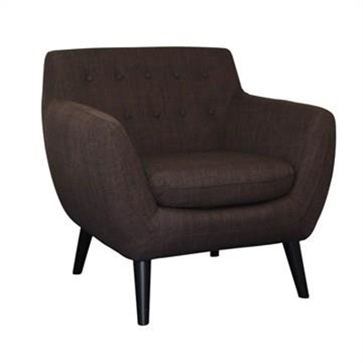Bonjour Fabric Upholstered Armchair - Chocolate by Brighton Home, a Chairs for sale on Style Sourcebook