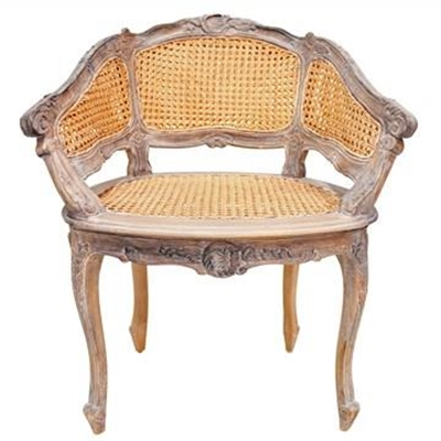 Vaugneray Hand Crafted Mahogany Bergere Chair, Weathered Oak by Millesime, a Chairs for sale on Style Sourcebook