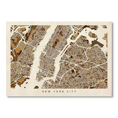 New York City Map Print Art by Americanflat, a Prints for sale on Style Sourcebook