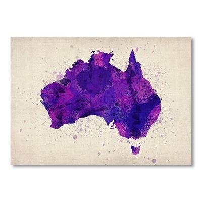 Australia Watercolour Map Print Art