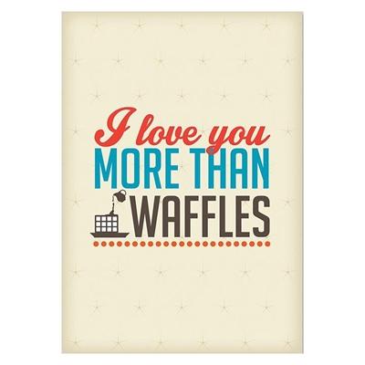 Love Waffles Print Art