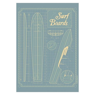 Surf Boards Grid Print Art by Americanflat, a Prints for sale on Style Sourcebook