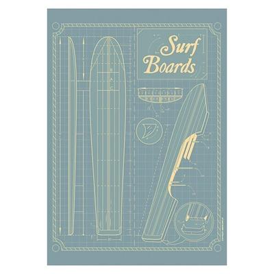 Surf Boards Grid Print Art