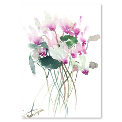 White Pink Flowers Print Art by Americanflat, a Prints for sale on Style Sourcebook