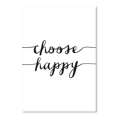 Choose Happy Print Art