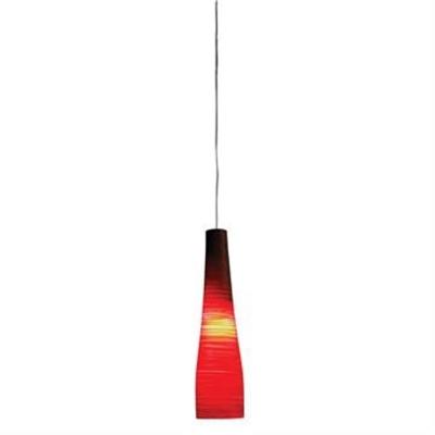 Meri Glass Pendant Light, 41cm, Red