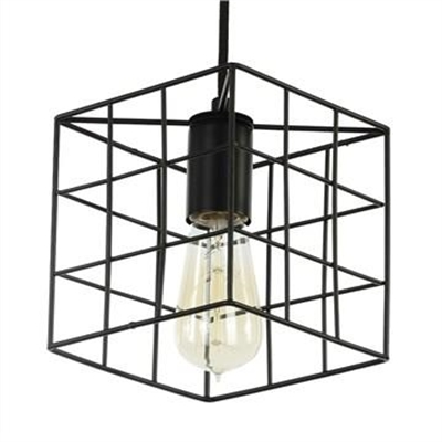 Rayan Metal Wire Cube Pendant Light