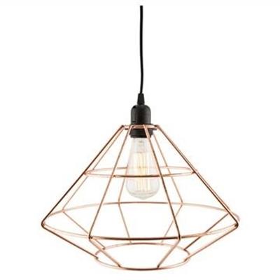 Rufus Iron Diamond Geo Pendant Light by Casa Uno, a Pendant Lighting for sale on Style Sourcebook