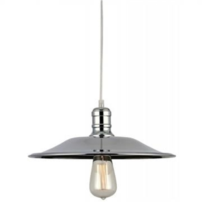 Essen Metal Shade Pendant Light - Chrome
