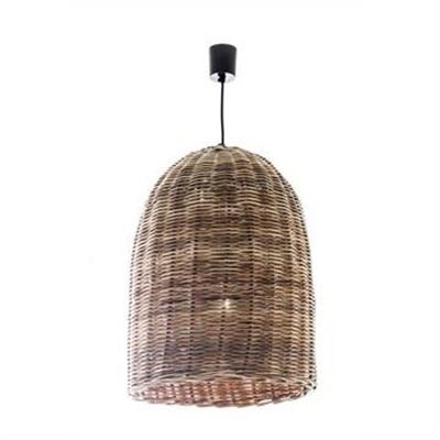 Haven Rattan Bell Pendant Light - Large by Emac & Lawton, a Pendant Lighting for sale on Style Sourcebook