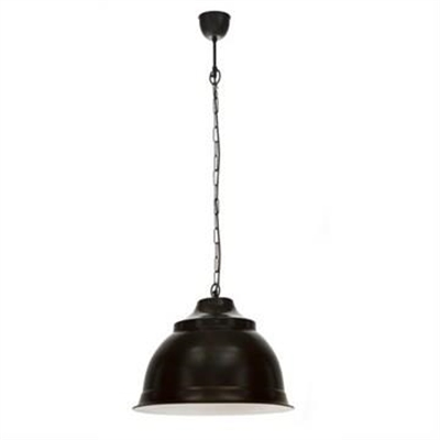 Brasserie Large Enamel Pendant Light - Black by Emac & Lawton, a Pendant Lighting for sale on Style Sourcebook