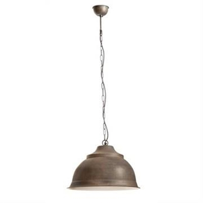 Brasserie Large Enamel Pendant Light - Rust