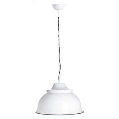 Brasserie Large Enamel Pendant Light - White