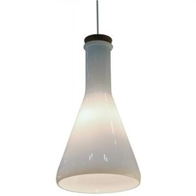 Magnesia Cone Shade Glass Pendant Light
