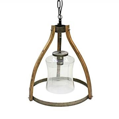 Bosco Timber & Metal Pendant Light, Large