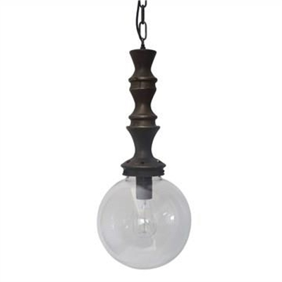 Savona Glass and Metal Pendant Light