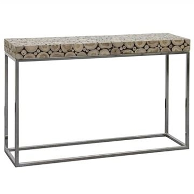 Iberia Driftwood and Stainless Steel 120cm Console Table by Centrum Furniture, a Console Table for sale on Style Sourcebook