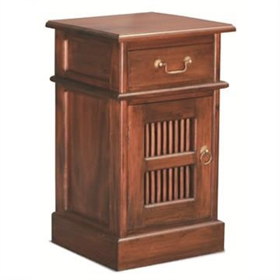 Ruji Solid Mahogany Timber Bedside Table - Mahogany by Centrum Furniture, a Bedside Tables for sale on Style Sourcebook
