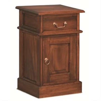 Tasmania Mahogany Timber Bedside Table, Mahogany