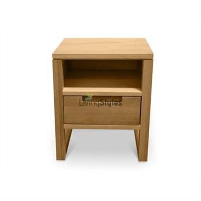Elgtrakket Single Drawer Bedside Table - Natural